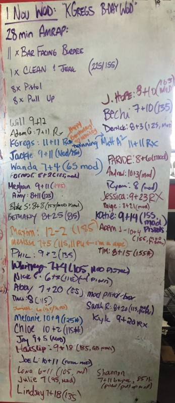 KGreg's B-Day WOD