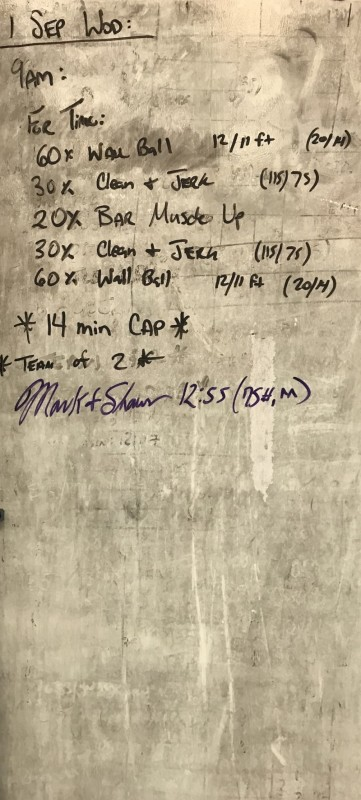 Saturday Morning WOD