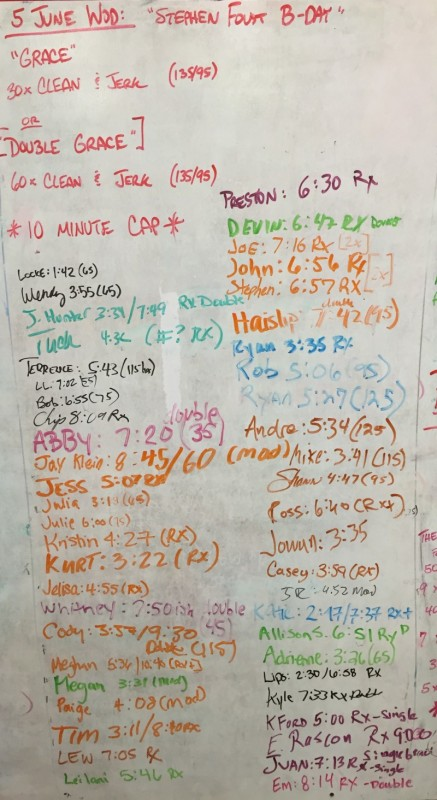 Stephen Foust's B-Day WOD