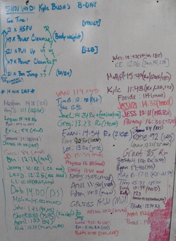 Kyle Bush's B-Day WOD