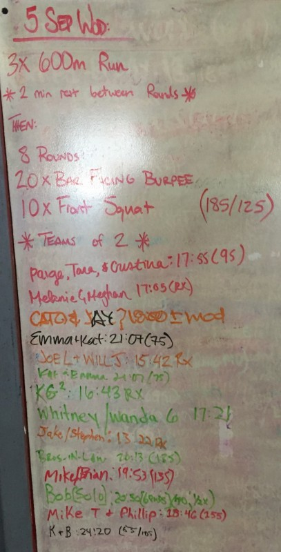 Labor Day WOD