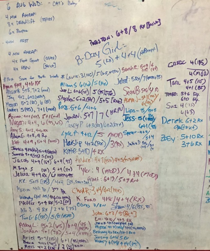 Cat's B-Day WOD