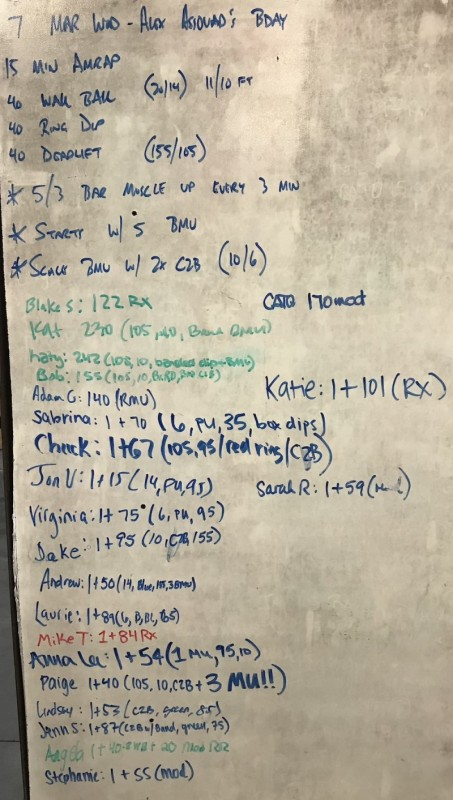 Alex Assouad's B-Day WOD