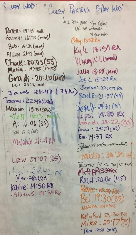 Colby Paxton's B-Day WOD