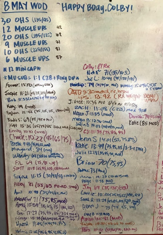 Colby's B-Day WOD: