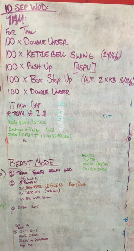 Saturday WOD
