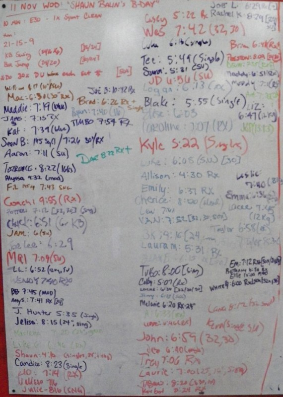 Shaun Balin's B-Day WOD