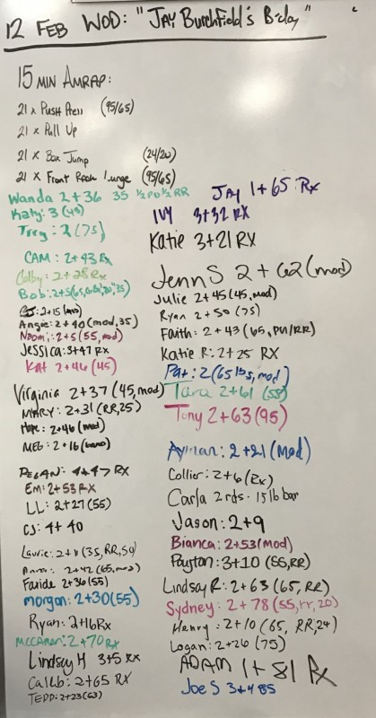 Jay Burchfield's B-Day WOD