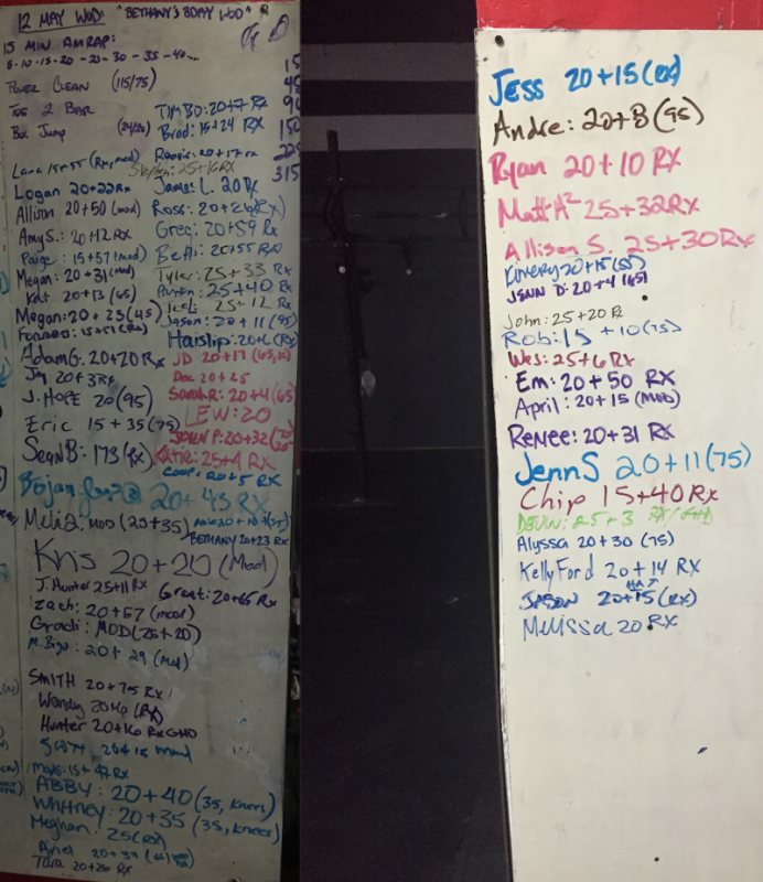 Bethany's B-Day WOD