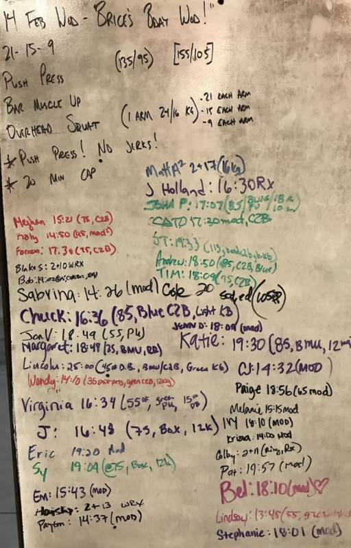 Brice's B-Day WOD