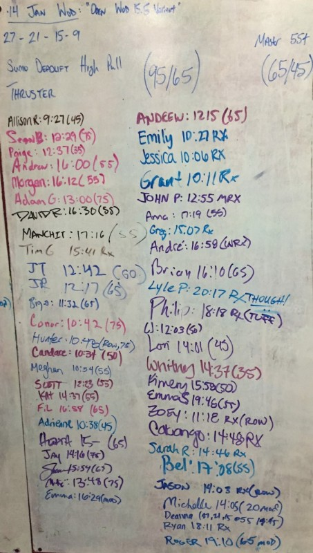 Open WOD 15.5 'Variation'