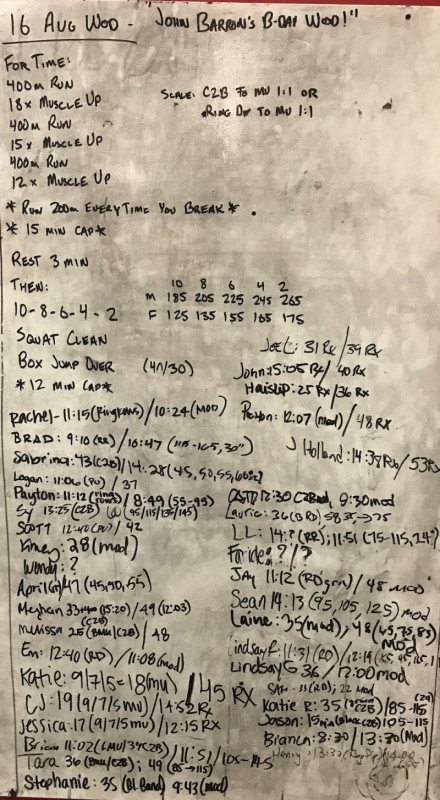 John Barron's B-Day WOD