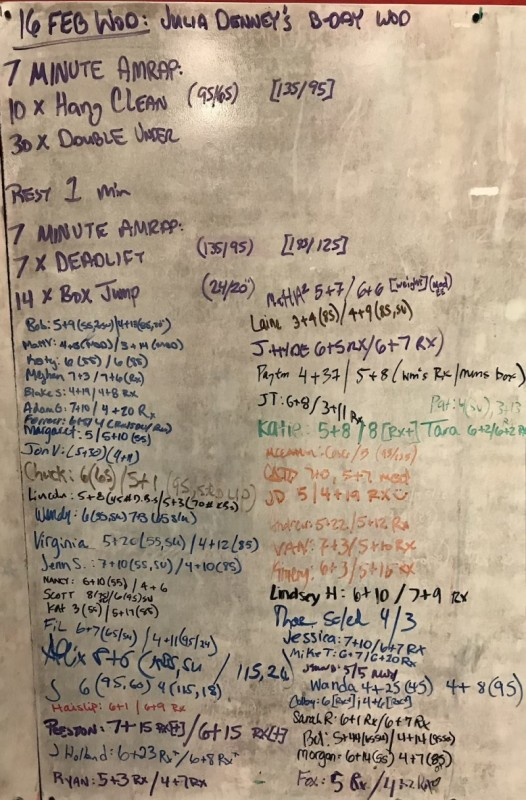 Julia Denney's B-Day WOD
