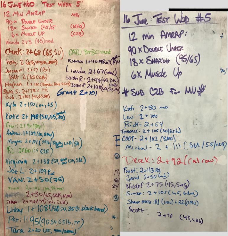 Test Week WOD #5