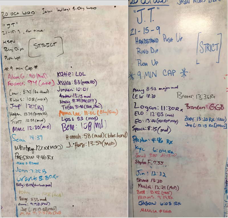 Jason Wiley's B-Day WOD (