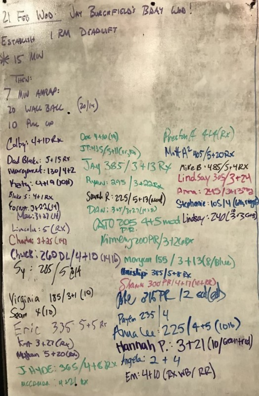 Jay Burchfield�s B-Day WOD