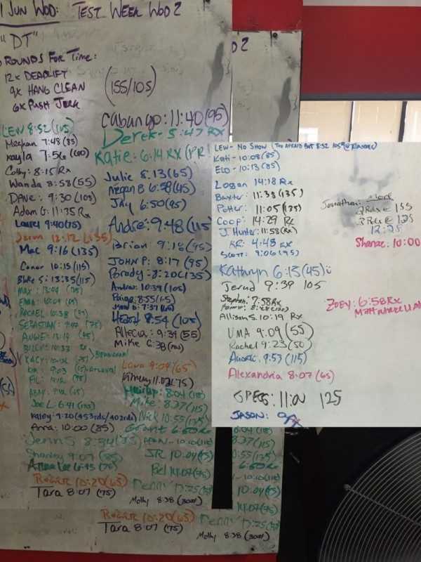 Test Week WOD #2 ( 'DT' )