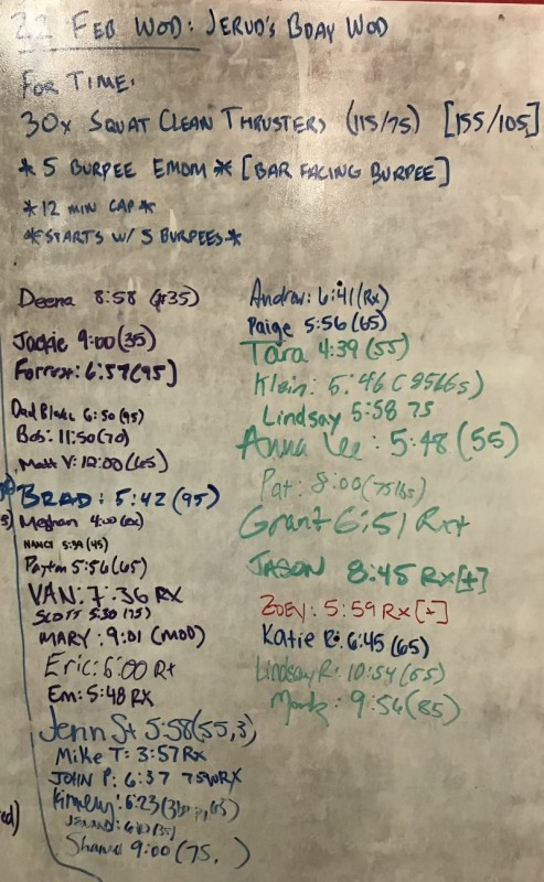Jerud's B-Day WOD