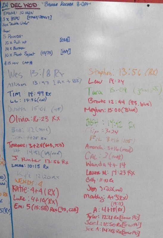 Brooke Kocher's B-Day WOD