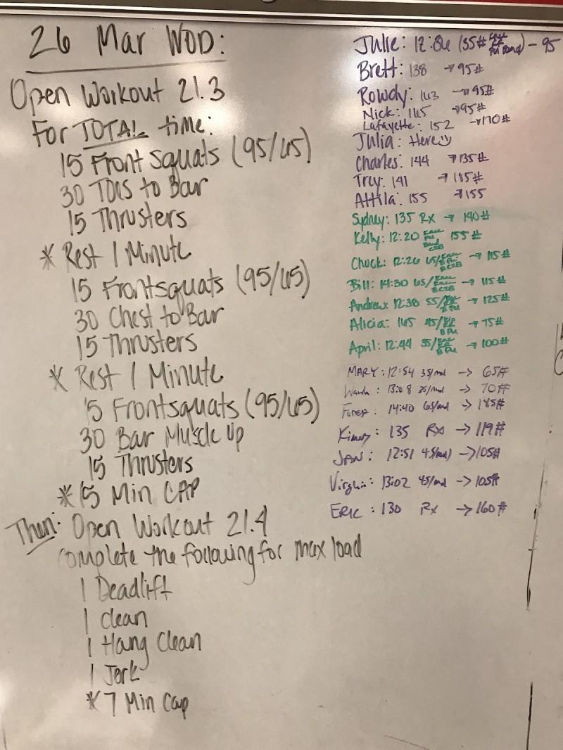 CrossFit Open WOD 21.3 & 21.4