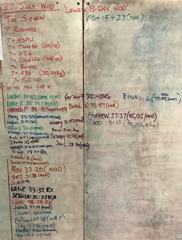 Lewis's B-Day WOD ( The Seven )