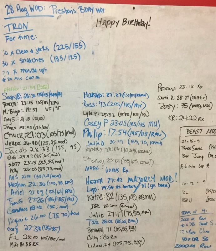 Preston's B-Day WOD