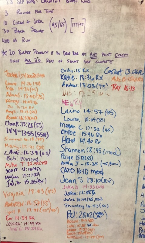 Lauren Law's B-Day WOD