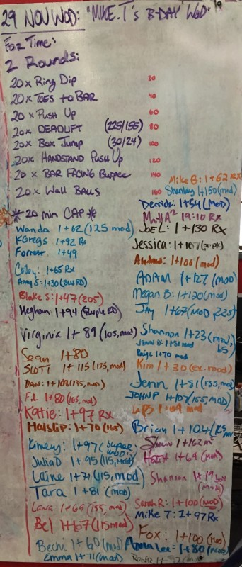 Mike T's B-Day WOD