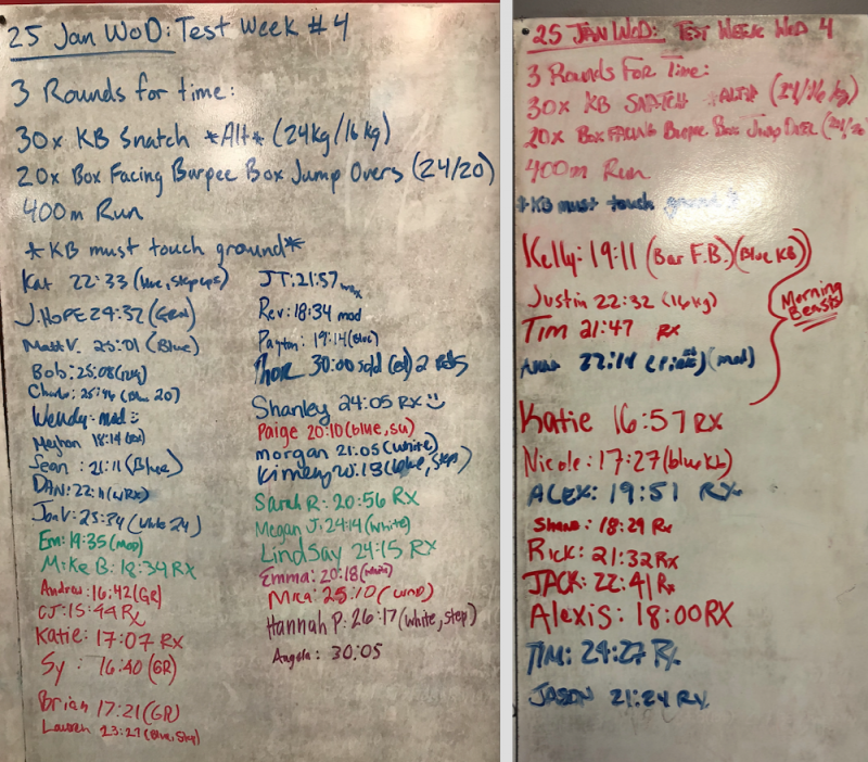 Test Week WOD #4