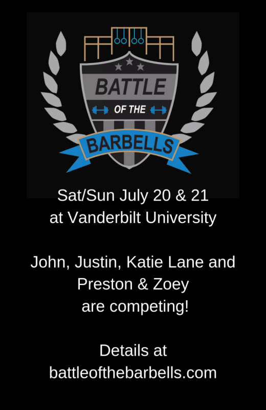 Battle of the Barbells Event 3ish