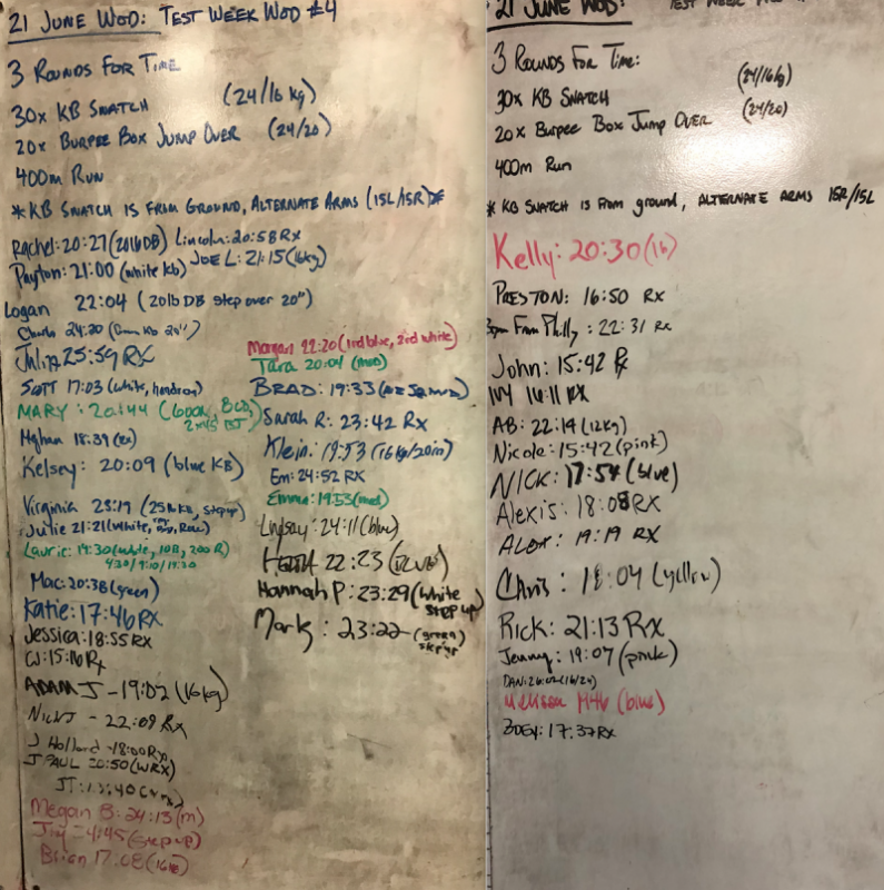 Test Week WOD 4