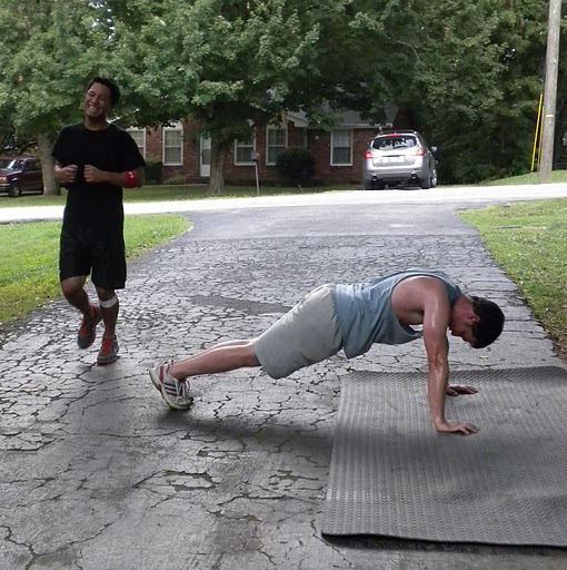 run and pushups